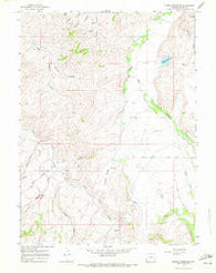 Myers Reservoir Wyoming Historical topographic map, 1:24000 scale, 7.5 X 7.5 Minute, Year 1965