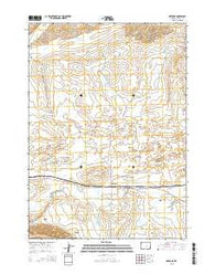 Natrona Wyoming Current topographic map, 1:24000 scale, 7.5 X 7.5 Minute, Year 2015