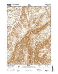 Natwick SW Wyoming Current topographic map, 1:24000 scale, 7.5 X 7.5 Minute, Year 2015