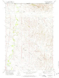 Nipple Butte Wyoming Historical topographic map, 1:24000 scale, 7.5 X 7.5 Minute, Year 1972
