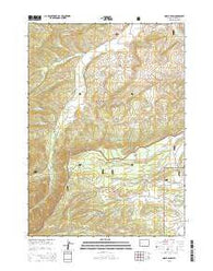 Noble Basin Wyoming Current topographic map, 1:24000 scale, 7.5 X 7.5 Minute, Year 2015