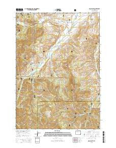 Noon Point Wyoming Current topographic map, 1:24000 scale, 7.5 X 7.5 Minute, Year 2015