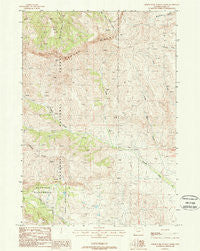 North Fork Pickett Creek Wyoming Historical topographic map, 1:24000 scale, 7.5 X 7.5 Minute, Year 1988