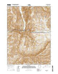 Nugget Wyoming Current topographic map, 1:24000 scale, 7.5 X 7.5 Minute, Year 2015