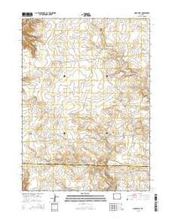 Oasis Well Wyoming Current topographic map, 1:24000 scale, 7.5 X 7.5 Minute, Year 2015