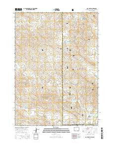 Oat Creek Wyoming Current topographic map, 1:24000 scale, 7.5 X 7.5 Minute, Year 2015