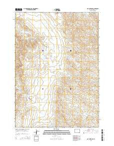 Oat Creek NW Wyoming Current topographic map, 1:24000 scale, 7.5 X 7.5 Minute, Year 2015