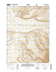 Oberg Ranch Wyoming Current topographic map, 1:24000 scale, 7.5 X 7.5 Minute, Year 2015