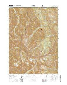 Observation Peak Wyoming Current topographic map, 1:24000 scale, 7.5 X 7.5 Minute, Year 2015