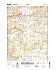 Ocla Draw Wyoming Current topographic map, 1:24000 scale, 7.5 X 7.5 Minute, Year 2015
