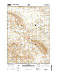 Oil Mountain Wyoming Current topographic map, 1:24000 scale, 7.5 X 7.5 Minute, Year 2015