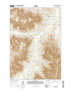 Oliver Draw Wyoming Current topographic map, 1:24000 scale, 7.5 X 7.5 Minute, Year 2015