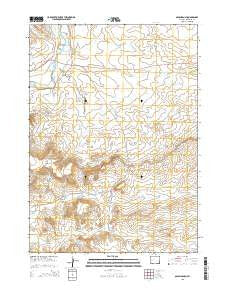 Olsen Ranch Wyoming Current topographic map, 1:24000 scale, 7.5 X 7.5 Minute, Year 2015