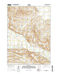 Onion Springs Wyoming Current topographic map, 1:24000 scale, 7.5 X 7.5 Minute, Year 2015