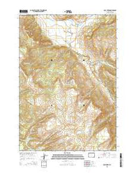 Opal Creek Wyoming Current topographic map, 1:24000 scale, 7.5 X 7.5 Minute, Year 2015