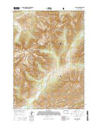 Open Creek Wyoming Current topographic map, 1:24000 scale, 7.5 X 7.5 Minute, Year 2015