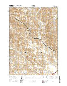 Oriva Wyoming Current topographic map, 1:24000 scale, 7.5 X 7.5 Minute, Year 2015