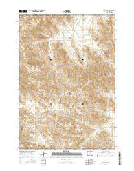 Oriva NW Wyoming Current topographic map, 1:24000 scale, 7.5 X 7.5 Minute, Year 2015