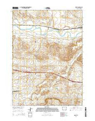 Orpha Wyoming Current topographic map, 1:24000 scale, 7.5 X 7.5 Minute, Year 2015