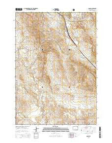 Osage Wyoming Current topographic map, 1:24000 scale, 7.5 X 7.5 Minute, Year 2015