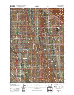Osage SE Wyoming Historical topographic map, 1:24000 scale, 7.5 X 7.5 Minute, Year 2012