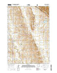 Osage SE Wyoming Current topographic map, 1:24000 scale, 7.5 X 7.5 Minute, Year 2015