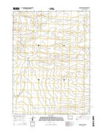 Osborne Draw Wyoming Current topographic map, 1:24000 scale, 7.5 X 7.5 Minute, Year 2015 from Wyoming Map Store