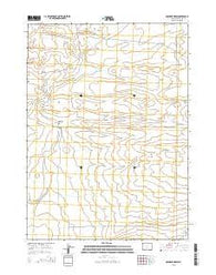 Osborne Draw Wyoming Current topographic map, 1:24000 scale, 7.5 X 7.5 Minute, Year 2015