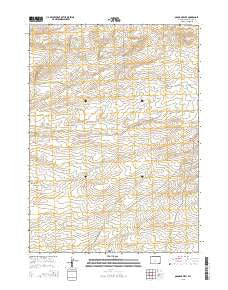 Osborne Well Wyoming Current topographic map, 1:24000 scale, 7.5 X 7.5 Minute, Year 2015