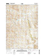 Oshoto Wyoming Current topographic map, 1:24000 scale, 7.5 X 7.5 Minute, Year 2015 from Wyoming Map Store