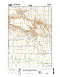 Otto Wyoming Current topographic map, 1:24000 scale, 7.5 X 7.5 Minute, Year 2015