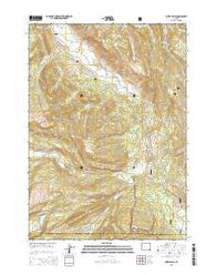 Ouzel Falls Wyoming Current topographic map, 1:24000 scale, 7.5 X 7.5 Minute, Year 2015