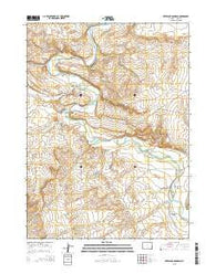 Overland Crossing Wyoming Current topographic map, 1:24000 scale, 7.5 X 7.5 Minute, Year 2015