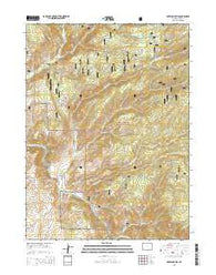 Overlook Hill Wyoming Current topographic map, 1:24000 scale, 7.5 X 7.5 Minute, Year 2015