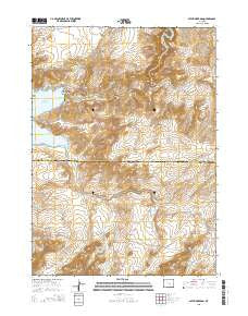 Pathfinder Dam Wyoming Current topographic map, 1:24000 scale, 7.5 X 7.5 Minute, Year 2015