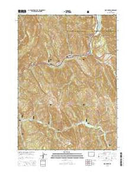 Pine Creek Wyoming Current topographic map, 1:24000 scale, 7.5 X 7.5 Minute, Year 2015