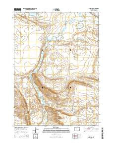 Pine Ridge Wyoming Current topographic map, 1:24000 scale, 7.5 X 7.5 Minute, Year 2015
