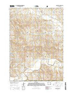 Poddy Creek Wyoming Current topographic map, 1:24000 scale, 7.5 X 7.5 Minute, Year 2015 from Wyoming Map Store
