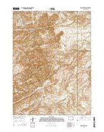 Poe Mountain Wyoming Current topographic map, 1:24000 scale, 7.5 X 7.5 Minute, Year 2015 from Wyoming Map Store