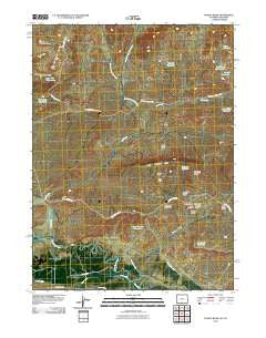 Poison Basin Wyoming Historical topographic map, 1:24000 scale, 7.5 X 7.5 Minute, Year 2010