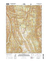 Poison Meadows Wyoming Current topographic map, 1:24000 scale, 7.5 X 7.5 Minute, Year 2015