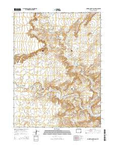 Powder Mountain NE Wyoming Current topographic map, 1:24000 scale, 7.5 X 7.5 Minute, Year 2015