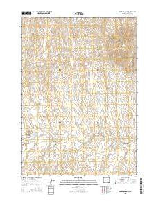Provence Ranch Wyoming Current topographic map, 1:24000 scale, 7.5 X 7.5 Minute, Year 2015
