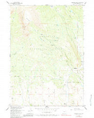 Ramshorn Peak Wyoming Historical topographic map, 1:24000 scale, 7.5 X 7.5 Minute, Year 1956