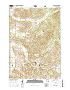 Raspberry Ridge Wyoming Current topographic map, 1:24000 scale, 7.5 X 7.5 Minute, Year 2015 from Wyoming Map Store