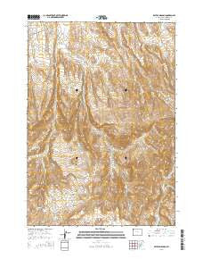 Rathbun Ranch Wyoming Current topographic map, 1:24000 scale, 7.5 X 7.5 Minute, Year 2015