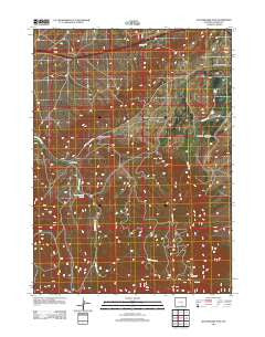 Rattlesnake Pass Wyoming Historical topographic map, 1:24000 scale, 7.5 X 7.5 Minute, Year 2012