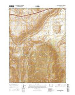 Rattlesnake Pass Wyoming Current topographic map, 1:24000 scale, 7.5 X 7.5 Minute, Year 2015 from Wyoming Map Store