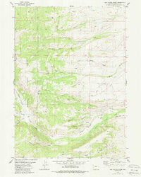 Red Castle Creek Wyoming Historical topographic map, 1:24000 scale, 7.5 X 7.5 Minute, Year 1980