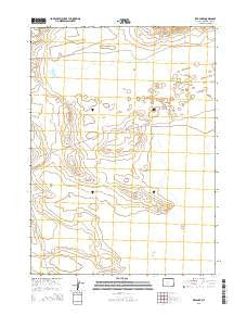 Red Lake Wyoming Current topographic map, 1:24000 scale, 7.5 X 7.5 Minute, Year 2015